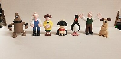 Wallace & Gromit - 1989 Collectible Figures -  7 pieces - free ship