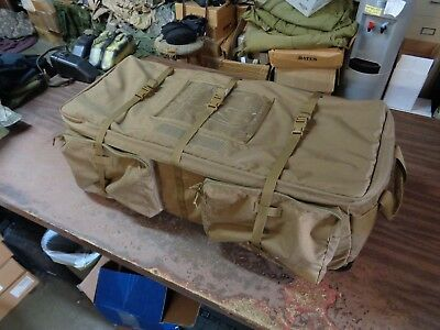 London Bridge LBT-2467A Large Wheeled Load-Out Bag & Padded Divider Coyote Brown