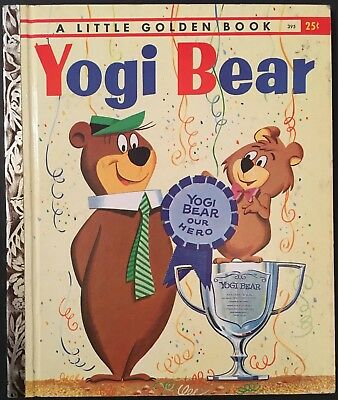 "1960 ""yogi Bear"" Little Golden Book ""a"" 1St Printing  Hanna-Barbera Tv Cartoon"