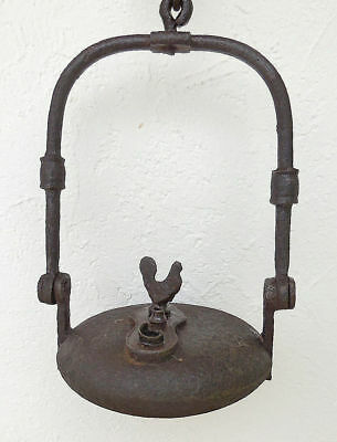 Antique real big lamp of miner in cast iron with the oil of whale