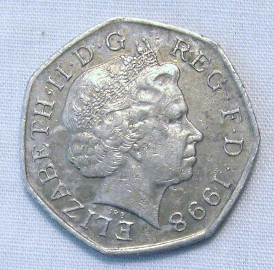 1998 50 Pence British Coin