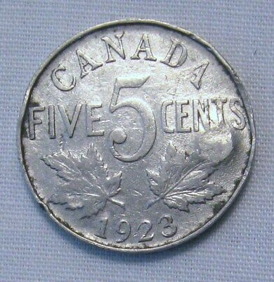 1923 5C Canada 5 Cents