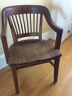 GUNLOCKE Vintage ANTIQUE Banker Chair Solid  Banker Lawyer