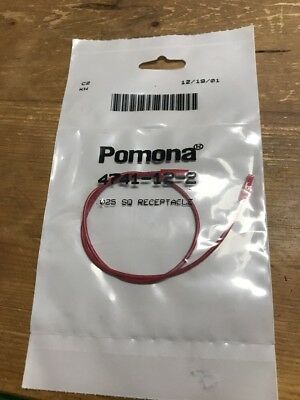 "Pomona 4741-12-2 0.025"" Square Pin Receptacle Patch Cord, 12"" Length, Red"