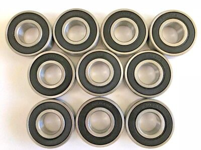 10 pcs 6204 2RS rubber sealed Premium bearing with large chamfer, 20x 47x 14 mm