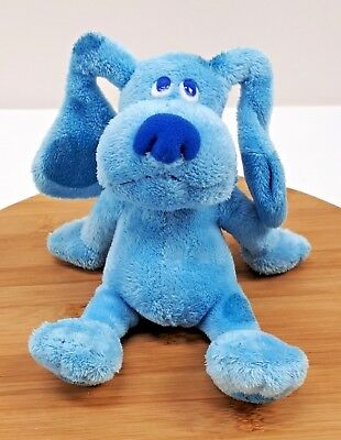 """Ty Beanie Baby Babies Blue the Dog Plush Blues Clues Nickelodeon 7"""" Stuffed Toy"""
