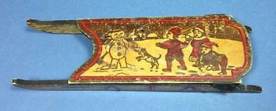Antique Vintage Pyrography Candy Container SLED Flemish Art Co 1900