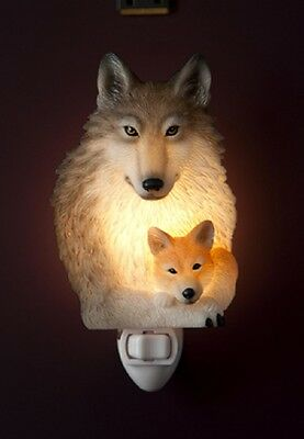 "Ibis & Orchid ""Wolf & Pup"" Night Light"