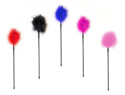 New Feather Fluffy Tickler Whip Crop Adult Fun Assorted Colours Sex Toy Bondage