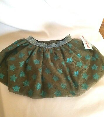 Cat & Jack Skirt Spring Olive with Stars Size 12M NWT