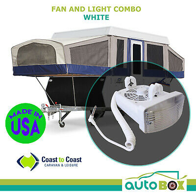 Jayco Bed End Fan Light Combo Camper Trailer Expanda Base Station Caravan White
