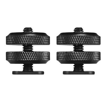 "2pcs Type 1/4""-20 Tripod Screw To Flash Hot Shoe Mount Adapter F DSLR Camera Rig"