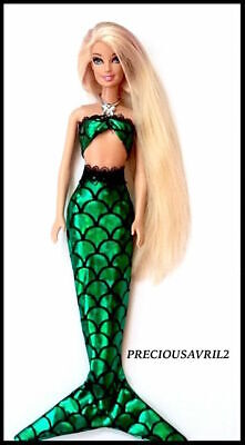 Brand new barbie doll clothes mermaid Ariel outfit princess party evening