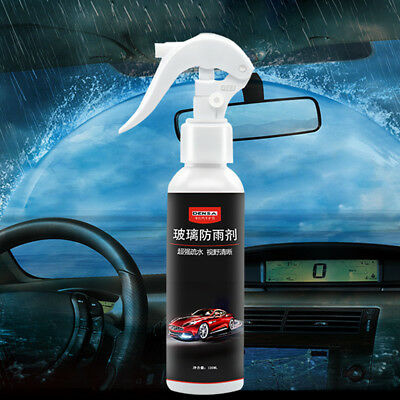 Car Windshield Glass Coating Agent Hydrophobic Water Rain Repellent Spray +Towel