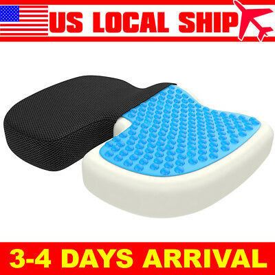 Orthopedic Seat Cushion Gel Memory Foam Seat Pillow Relieve Back Sciatica Coccyx