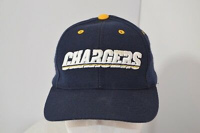 VTG San Diego LA Chargers Logo Athletic Snapback Hat NFL Football Bolts 8fe7930cc4da