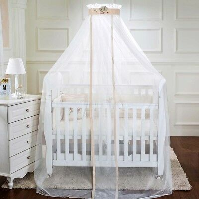Kids Baby Cot Bed Mosquito Net Curtain Canopy Dome Mesh Nursery Summer AU005
