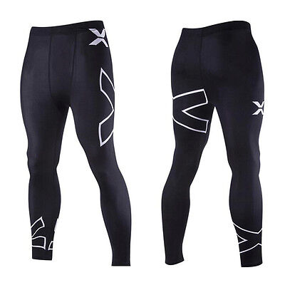 Men's Gym Sports Compression Base Layer Running Legging Long Pants Tight Trouser