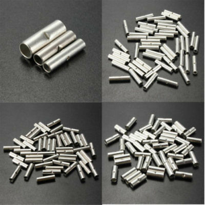50x 10-12/14-16/18-22AWG Uninsulated Car Butt Wire Connector Crimp Terminal Cord