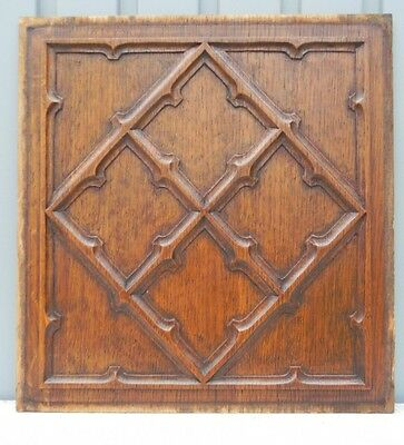 Gothic Stunning panel in oak - fine quality