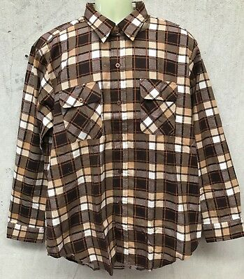 N.O.S Vintage AMBASSADOR LONG SLEEVED FLANNEL SHIRT MOD ROCKABILLY 60's size 100