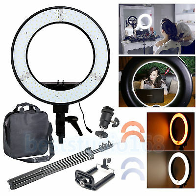 """12"""" 5500k Dimmable Diva 240 LED Ring Light Diffuser Mirror Stand Make up Studio"""
