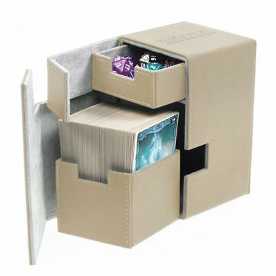 Ultimate Guard - Flip'n'Tray Xenoskin Deck Case 100+ Sand - Gaming Boxing