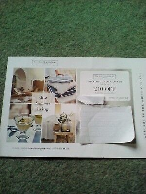 THE WHITE COMPANY £10 OFF (SPEND £50) COUPON VOUCHER till 21/8/18 INTRO OFFER