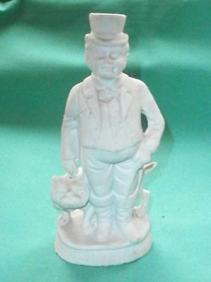 antique figurine of John Bull with his Engl. Bulldog/ antique/ bisque/Germany