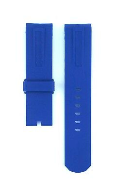 Corum Fit Admirals Cup For 44mm Case 22mm Blue Rubber Watch Strap 438CRM