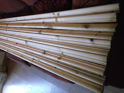 PINE Picture rail dado 10 lengths 2.4mt x 44mm x 20mm timber wood