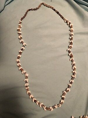 TWO Vintage Hand Made Cowrie and Mini Conch Sea Shell Necklaces - Lei  Hawaii