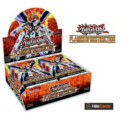 Yu-Gi-Oh Flames Of Destruction Sealed Booster Box of 24 Packs: New TCG Cards