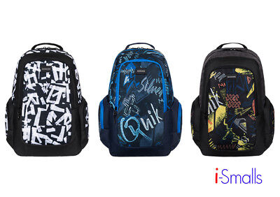 34e52663a8673 QUIKSILVER MEN S HECTIC 20L Backpack Skateboard Carry Strap ...