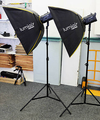 BOWENS GEMINI 400/400 Rx Monolight kit with 2 x softboxes - mint condition