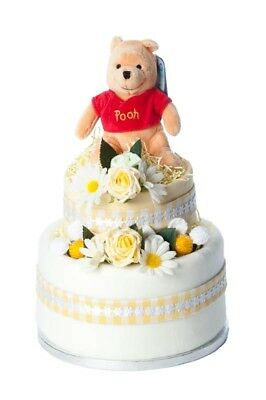 Winnie The Pooh Two Tier Nappy Cake