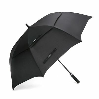 Automatic Golf Umbrella Large Double Canopy Vented Windproof Waterproof Stick