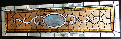 Large Antique Stained & Beveled Glass Window