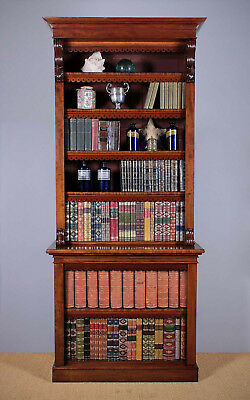 Antique Tall Mahogany Open Bookcase c.1850.