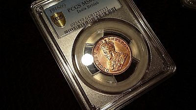 KEY DATE 1916 Quarter Anna PCGS Certified MS 64 Red 1/4 UNC ngc British India !