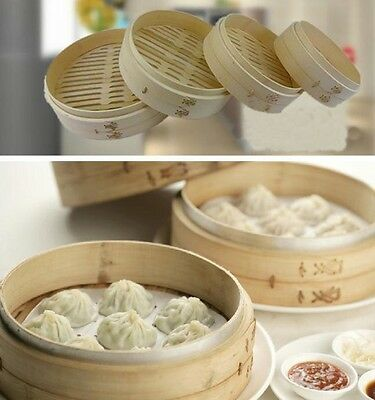 1 PC Natural Bamboo Steamer Dumplings Steamed Buns Handmade Household Restaurant