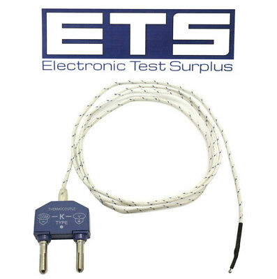 "Type K Thermocouple Adapter & 36"" Wire Lead"
