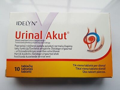 Urinal Akut- for urinary tract Inflammation and Function 10 tablets-UK stock