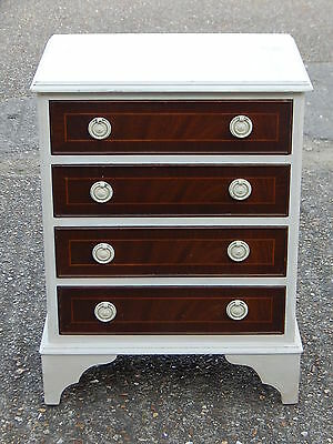 Cute vintage mahogany regency style chest of drawers partially painted white