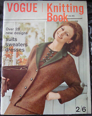 VINTAGE VOGUE Knitting Book Magazine 1964 54Th Birthday Knitting ...