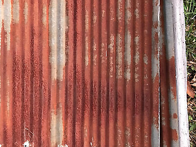 Antique Reclaimed Rusty Metal Roof Panels SMALL Corrugated