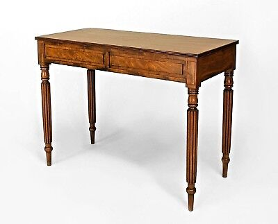 Pair of English Georgian Style (20th Cent.) Mahogany Console Tables