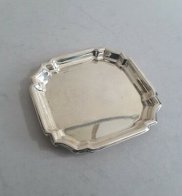 Small Vintage Solid Silver Square Pin- Tray.   8.8Cms. Sq.   Birmingham.1973.