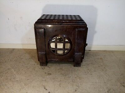 Antique Cast Iron Fire Standing Wood Burner
