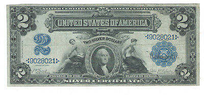 1899 US $2 Dollar Siver Large Note Paper Money ~